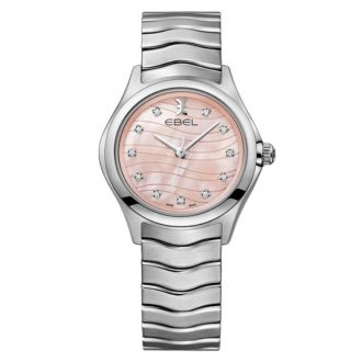 EBEL - Wave Women's Pink Diamond Dial Bracelet Watch 1216268