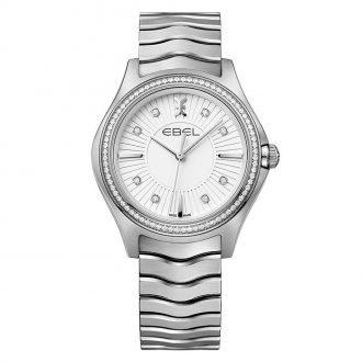 EBEL - Wave Women's White Diamond Dial Bracelet Watch 1216308