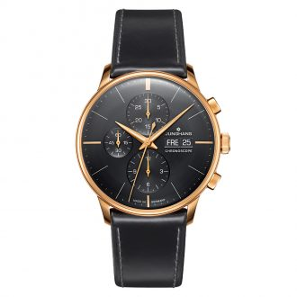 JUNGHANS - Meister Chronoscope Black Dial Watch with Sapphire Upgrade 027/7923.00