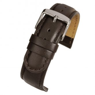 HOBSON Brown Padded Calf Leather Stitched Watch Strap W155P
