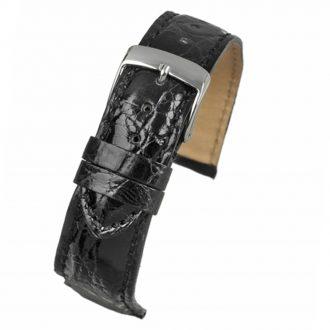 MILANO Black Italian Made Genuine Crocodile Watch Strap W670