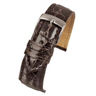 MILANO Dark Brown Italian Made Genuine Crocodile Watch Strap W675