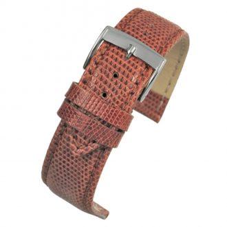 FIRENZE Tan Italian Made Genuine Lizard Watch Strap W681