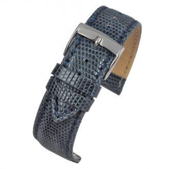 FIRENZE Dark Blue Italian Made Genuine Lizard Watch Strap W683