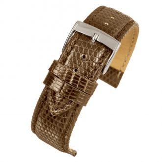 FIRENZE - Dark Brown Italian Made Genuine Lizard Watch Strap W685