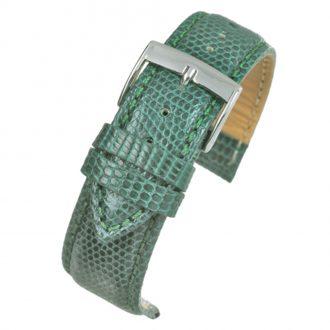 FIRENZE Green Italian Made Genuine Lizard Watch Strap W686