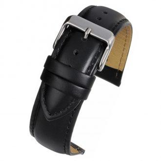 BECKETT Black Calf Heavy Padded Leather Watch Strap W920