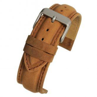FORBES Matt Finish Tan Heavy Padded Leather Watch Strap W973