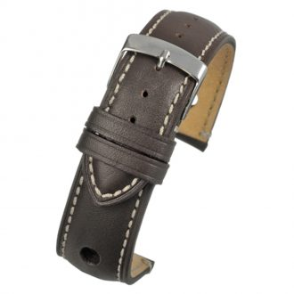 RALLY Brown Rally Style Leather Watch Strap WH625
