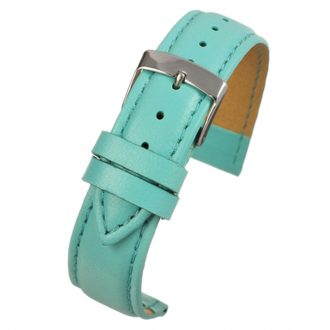 FAUX Light Blue Vegan Imitation Leather Stitched Watch Strap WH633