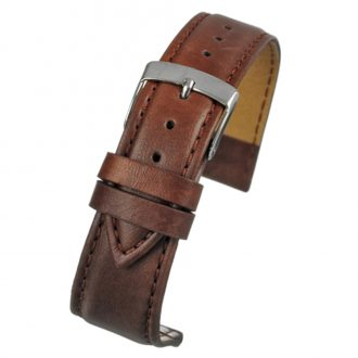 FAUX Brown Vegan Imitation Leather Stitched Watch Strap WH635