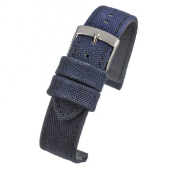 BROMPTON Blue Fabric Watch Strap Stitched Edge WH663