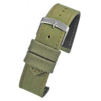 BROMPTON Green Fabric Watch Strap Stitched Edge WH666