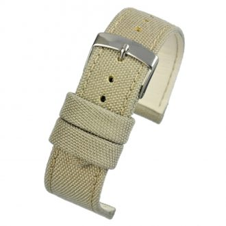 BROMPTON Ivory Fabric Watch Strap Stitched Edge WH668