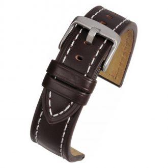 CAMBRIDGE Brown Modern Cut Edge Watch Strap WH805