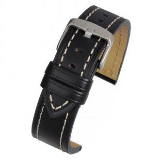 CAMBRIDGE Black Modern Cut Edge Watch Strap WH810