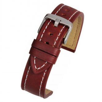 CAMBRIDGE Chestnut Red Modern Cut Edge Watch Strap WH811