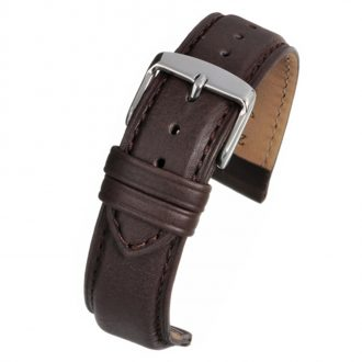 ASKEW Brown Padded Leather Watch Strap WH891