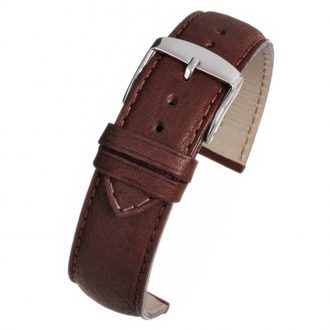 PRESTON Brown Vintage Style Leather Padded Watch Strap WH901