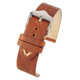 THRUXTON Tan Vintage Distressed Leather Watch Strap WV101