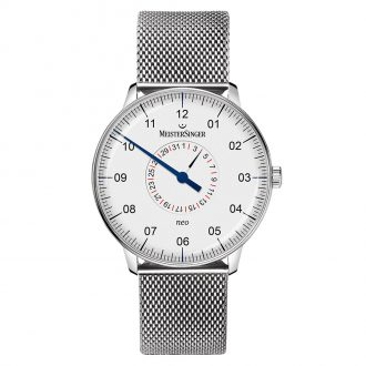 MEISTERSINGER - Neo Pointer Date Milanese Bracelet Watch NED901