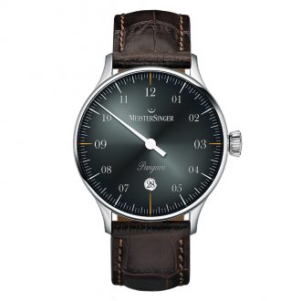 MEISTERSINGER - Pangaea Date Black Dial Strap Watch PMD907D