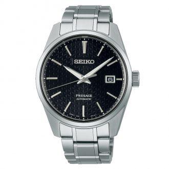 SEIKO PRESAGE - Sharp Edged Series Black Dial Watch SPB203J1
