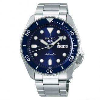 SEIKO - Seiko 5 Sports Blue Dial & Bezel Bracelet Watch SRPD51K1