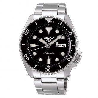 SEIKO - Seiko 5 Sports Black Dial Automatic Bracelet Watch SRPD55K1