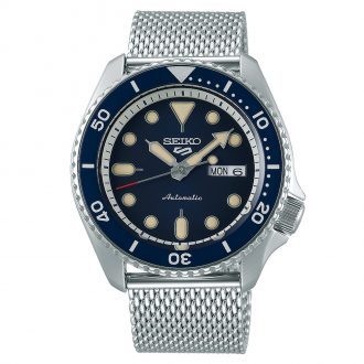 SEIKO - Seiko 5 Sports Blue Dial Milanese Bracelet Watch SRPD71K1