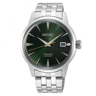 SEIKO PRESAGE - Mockingbird Cocktail Time Green Dial Watch SRPE15J1