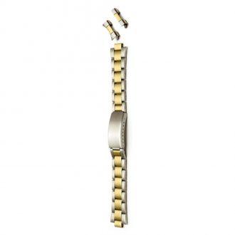 SALISBURY Two Tone Matt Watch Bracelet Straight and Curved Ends 3978B