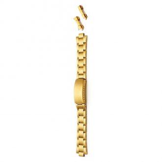 SALISBURY Gold PVD Matt Bracelet Straight and Curved Ends 3978G