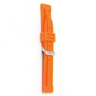 WATERLINE Orange Silicone Sports Active Watch Strap 8002