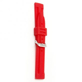 WATERLINE Red Silicone Sports Active Watch Strap 8007