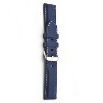 REGATTA Blue Silicone White Stitched Sports Watch Strap 8203