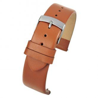 HOXTON Tan Quick Release Plain Calf Leather Flat Profile Watch Strap W101Q