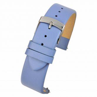 HOXTON Light Blue Quick Release Plain Calf Leather Watch Strap W103Q