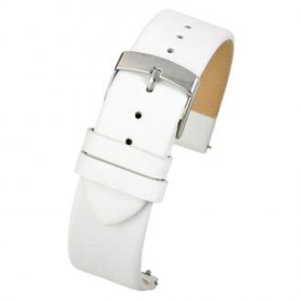 HOXTON White Quick Release Plain Calf Leather Watch Strap W104Q
