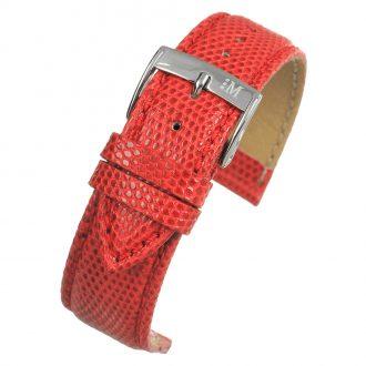 FIRENZE Red Italian Made Genuine Lizard Watch Strap W687