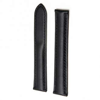 Compatible Strap to fit Cartier® Watch with Deployant Clasp - Black Leather WC21