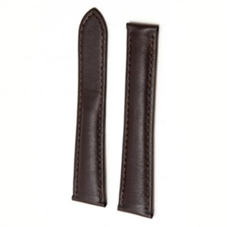 Compatible Strap to fit Cartier® Watch with Deployant Clasp - Brown Leather WC22