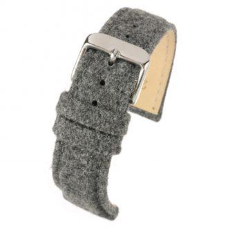 CROFT Grey Wool Watch Strap Stitched Edge WH678