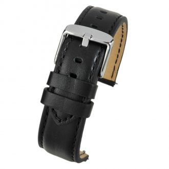 SOHO Black Water Resistant Quick Release Leather Watch Strap WH680Q