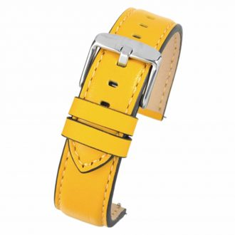 SOHO Yellow Water Resistant Quick Release Leather Watch Strap WH681Q