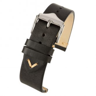 THRUXTON Black Vintage Distressed Leather Watch Strap WV100