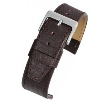 KENSINGTON Extra Long Brown Glazed Buffalo Watch Strap WX300