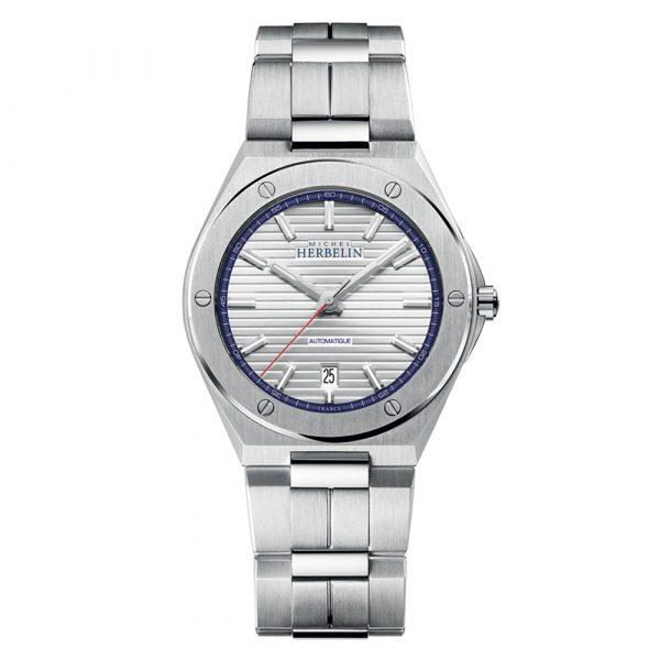 Michel Herbelin Cap Camarat automatic men's watch with stainless steel case and bracelet model 1642-B42