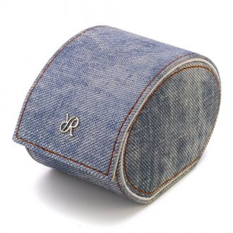 RAPPORT - Soho Single Watch Roll in Stone Washed Denim Canvas D310
