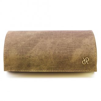 RAPPORT - Soho Three Watch Roll in Brown Washed Denim Canvas D322